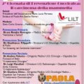 2^ Giornata di Prevenzione Oncologica - Il carcinoma della mammella